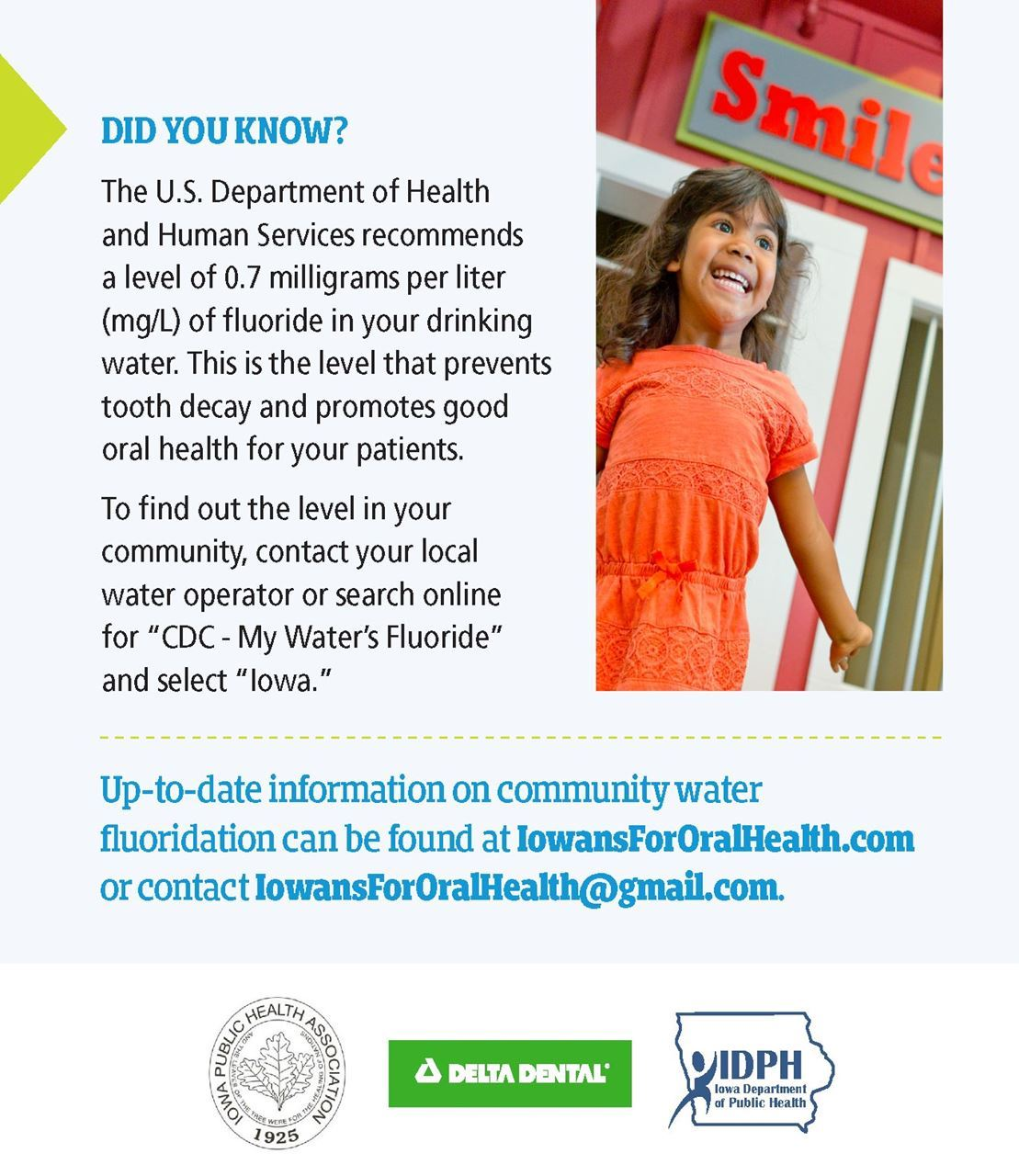 fluoridation and water Responsibilities make and enforce regulations related to private water supplies in the community order the fluoridation of public water supplies.